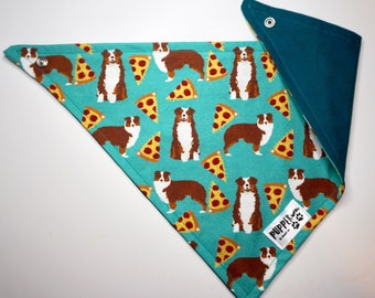 pupperwear | aussie shepherd pizza | dog bandana