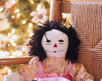 Handmade / Asian / Raggedy Ann Doll /