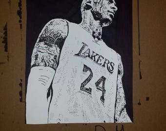 Kobe Bryant Sharpie Drawing