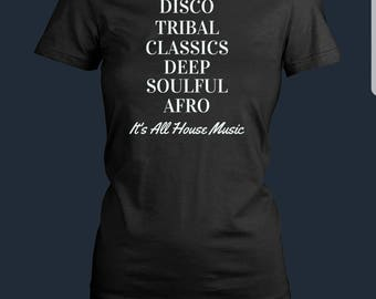 It's All House Music Women's Tshirt