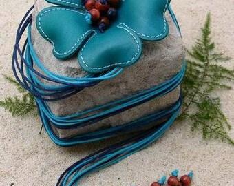 Letter Flower Belt - Blue