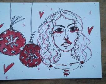 Cocaine Christmas card