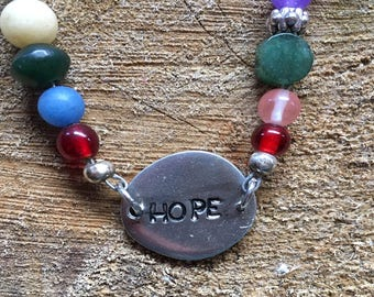 HOPE beaded necklace