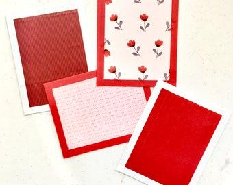 Cartes postales de la Saint-Valentin - ensemble de quatre