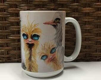 Whimsical Coffee Mug - Original Art Design