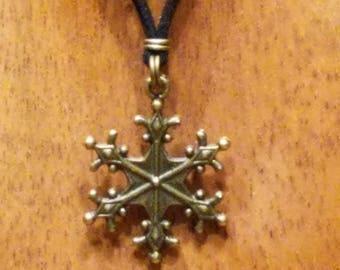 Micro Suede Snowflake Necklace