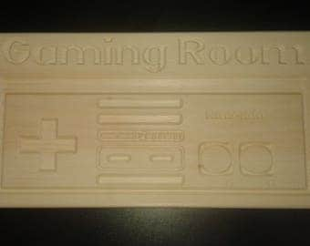Gaming Room Nintendo Controller Sign