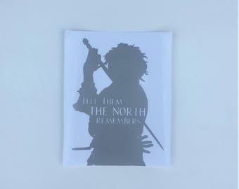 Game of Thrones Arya Vinyl Decal