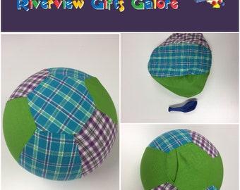 Balloon Ball Cover - Blue Purple Check