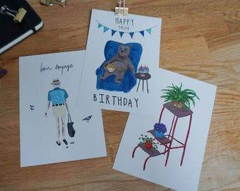 Postcards 3 Set