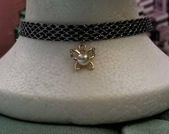 Pearl Butterfly Choker