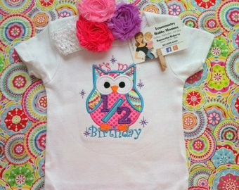 Personalized It's My 1/2 Birthday Owl Outfit