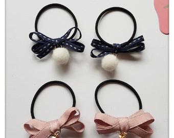 Ties bow cute hair elastics girl elastic hair ties for baby girls