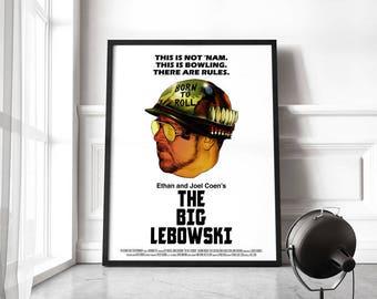 The Big Lebowski Poster, Jeff Bridges Movie poster, John Goodman Big Lebowski