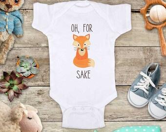 Oh, For Fox Sake bohemian boho design funny baby bodysuit baby shower gift - Made in America - cute birthday baby gift baby birth pregnancy