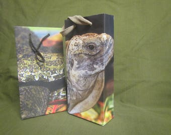 Upcycled gift bags-reptiles edition