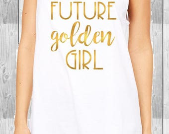 Future Golden Girl Women's relaxed tank