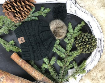 Interchangeable Pom Pom Beanie