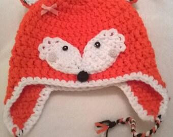 Kids Fox Flap Ear Hat