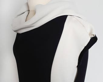 Black and White Hoody Top/Dress