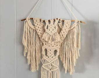 Miniature Wall Hanging Made With Cotton Cord - Perfect Tiny Home Decor!