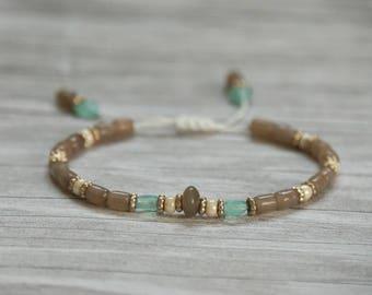 Delicate Gray Agate Bracelet