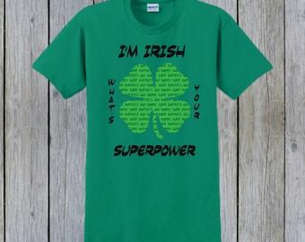 ST PATRICKS DAY, Custom T-Shirt, Personalized T-Shirt, St Pattys Day, Saint Patrick, Irish Shirt, Irish Gift, Leprechaun, Four Leaf Clover