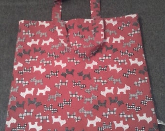 Tote - Red Spotty Dog