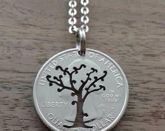 Coin jewelry, Quarter dollar USA-sapling