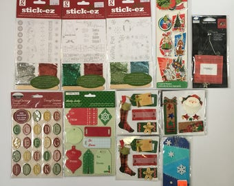 Christmas - stickers / embellishments (lot #18)