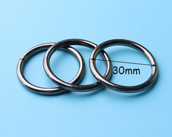 10pcs  Metal O Ring, black 25mm Webbing Strap, Handbag Hardware, Belt Hardware, Bags Accessories  thq4