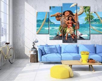 Moana, Disney canvas, Nursery canvas, Moana wall art, Moana print, Disney print, Moana wall aet, Disney, Disney princess print, Moana poster