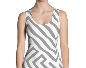 Light Gray-Sublimation Cut & Sew Tank Top, Printful, USA