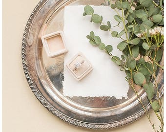 Vintage Silver Detail Tray