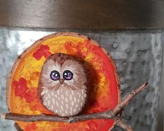 Autumn Owl Magnet - 036