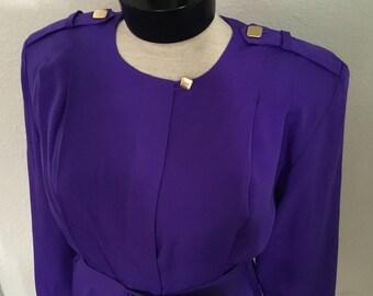 80's Vintage Purple Dress