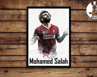 Mohamed Salah print wall art home decor poster