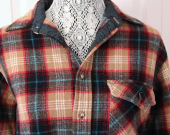 1960s Plaid Pendleton Jacket Large