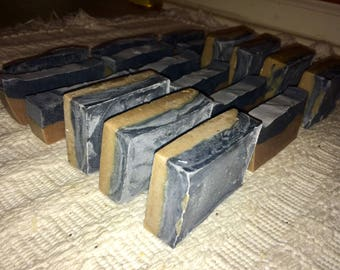 Layered Charcoal Soap