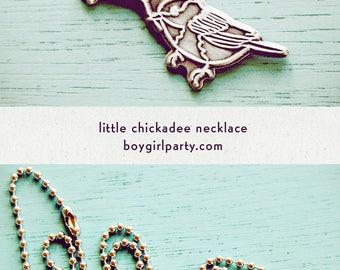 small bird necklace, little bird jewelry, chickadee art necklace, mum gift, sparrow necklace, gift for mum, whimsical bird art jewelry