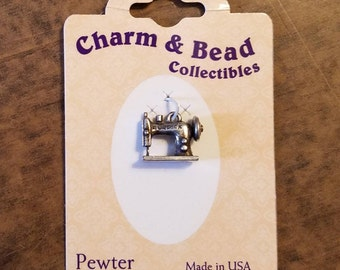 Sewing Machine Charm, Pewter