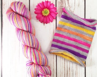 May The Odds Be Ever In Your Favor: Hand-dyed gradient self-striping sock yarn, 75/25 SW merino/nylon