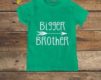 Bigger Brother Shirt Big Boys Shirt New Brother shirt GREEN Big Brother Shirt