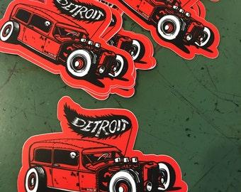 Detroit Rat Rod sticker