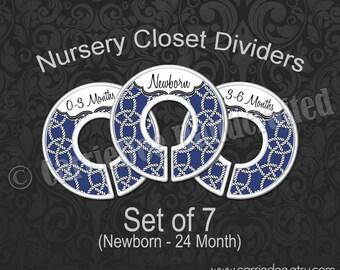 Navy Blue Nautical Rope Baby Closet Dividers, Navy Nautical Nursery Decor, Baby Boy Gift, Sailor Nursery Theme
