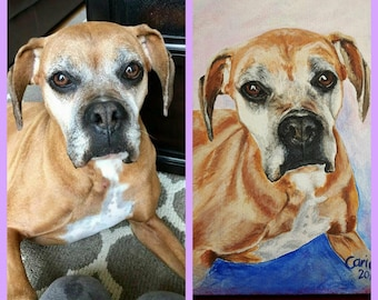 Hand Painted Pet Portraits from your photo