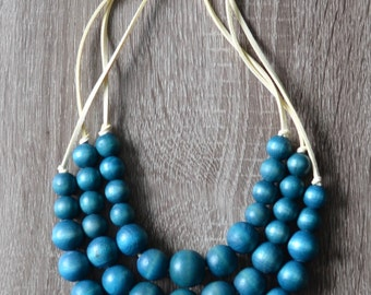Turquoise Statement Necklace - Chunky Necklace