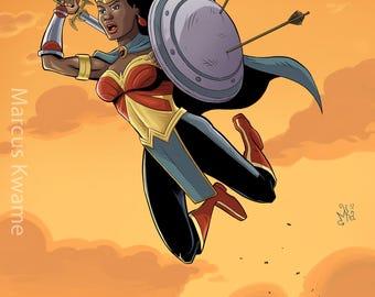 Nubia - Wonder Woman 12x15 Print