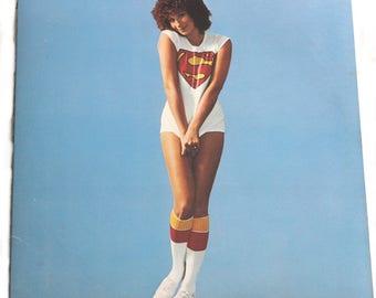 Vintage 1977 Barbra Streisand Superman Vinyl LP Stereo Record Album with Lyric Sheet Pop Music