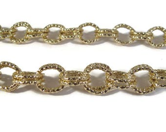 Gold Plated Chain, 22 Inches of Chain, Beautiful Gold Plated Chain for Making Jewelry (F-1c)